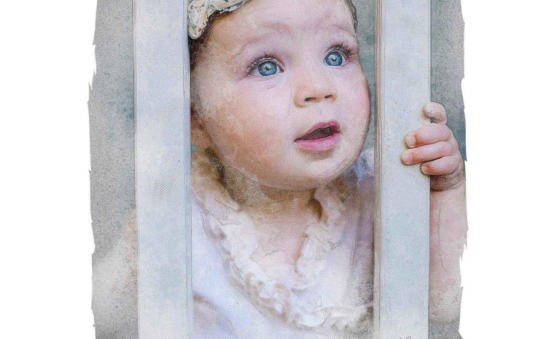 Elsa in the Crib