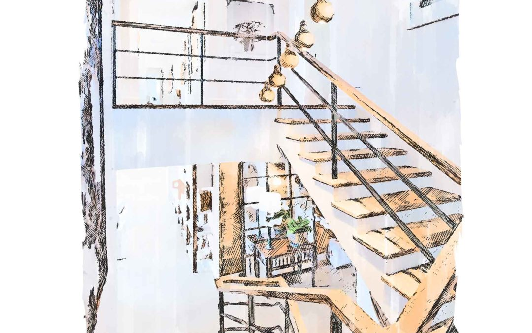 Lighted Interior Stairway