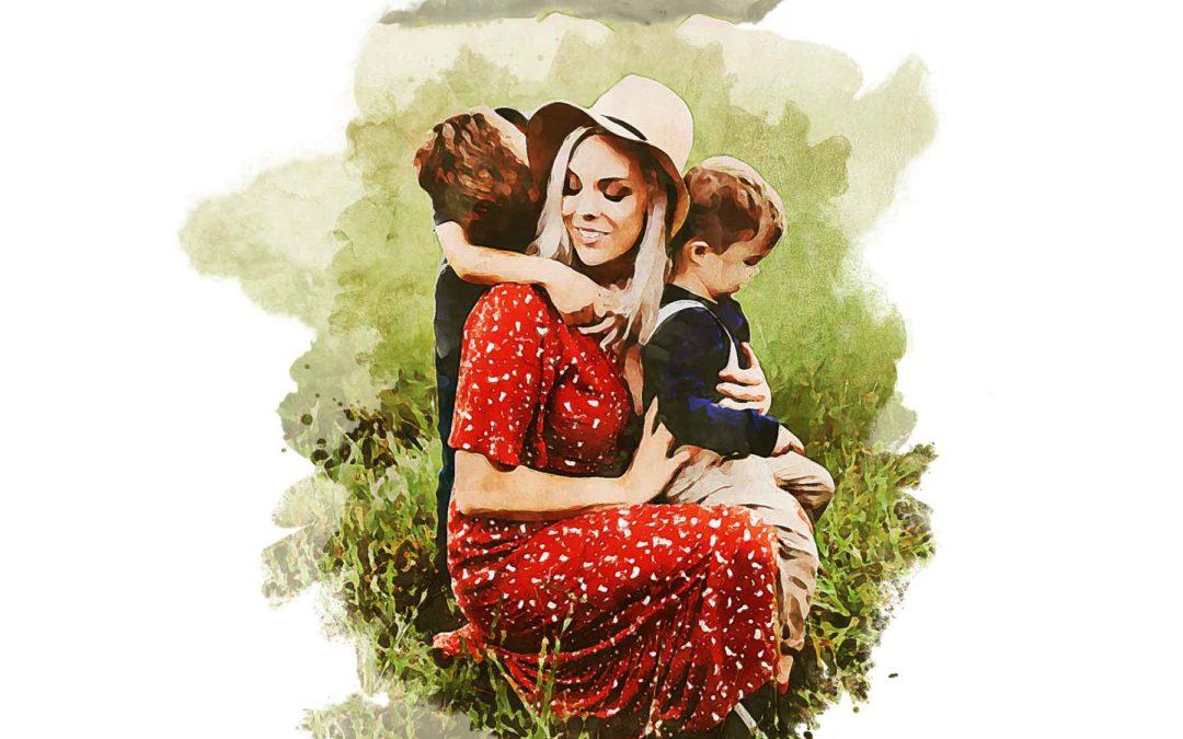 Mama Peyton and Her Boys